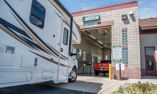 RV Wash Entrance