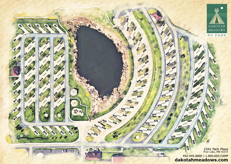 Dakotah Meadows RV Park Map